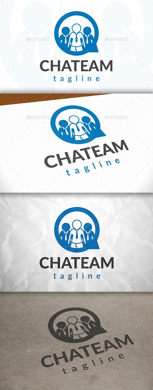 Team Chat Logo - Humans Logo Templates