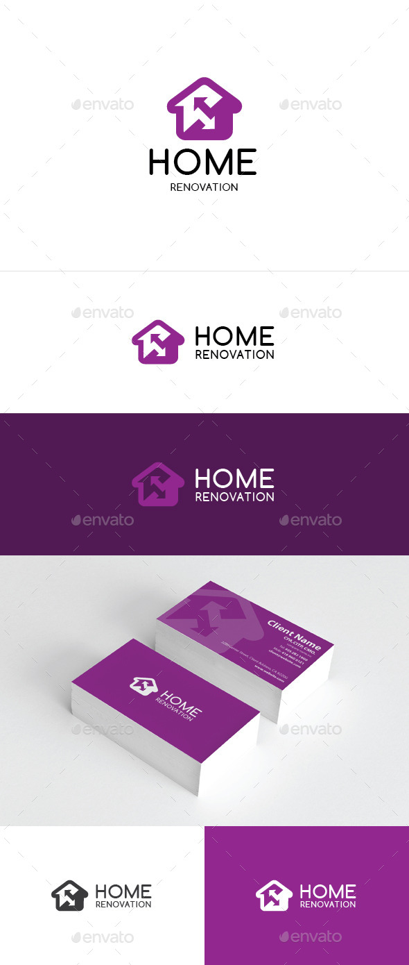 Home Renovation Logo Template - Buildings Logo Templates