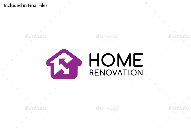 home renovation logo template by foxxelgraphics