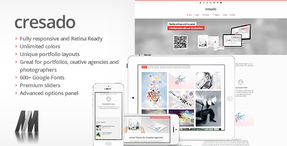Cresado WP - Responsive Theme for Creatives