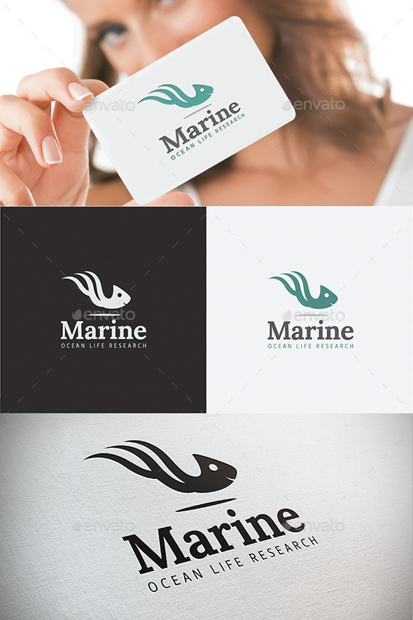Marine Life Ocean Research Sea Logo - Animals Logo Templates
