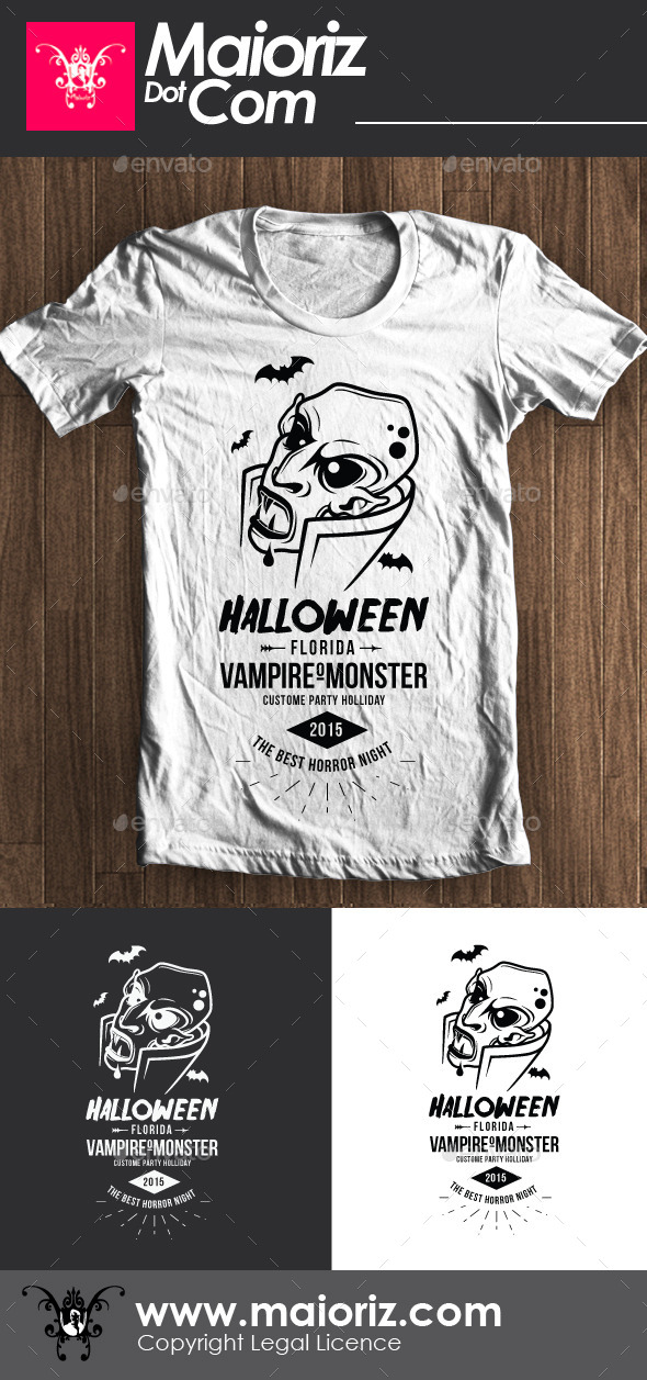 Halloween Vampire Tshirt - Events T-Shirts