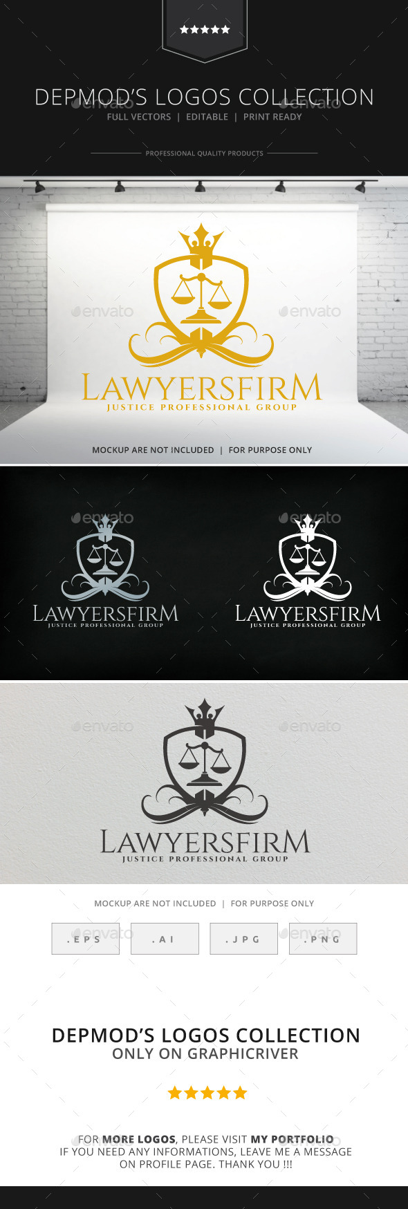 Lawyers Firm Logo - Crests Logo Templates