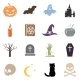 Vector Set of Halloween Icons - GraphicRiver Item for Sale