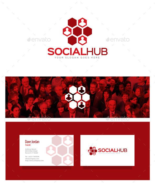 Social Hub Logo - Symbols Logo Templates
