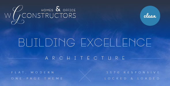 Constructors - One Page Architecture PSD Theme