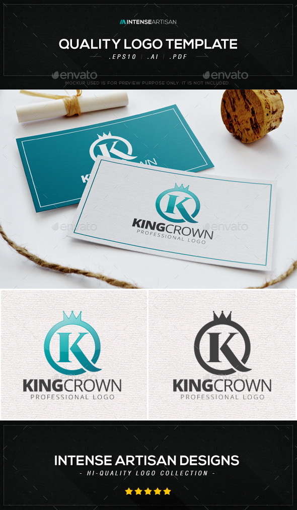 King Crown Logo Template - Letters Logo Templates