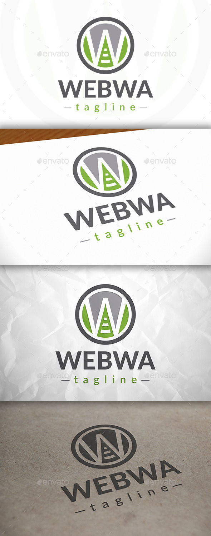 Web Wave Logo - Letters Logo Templates