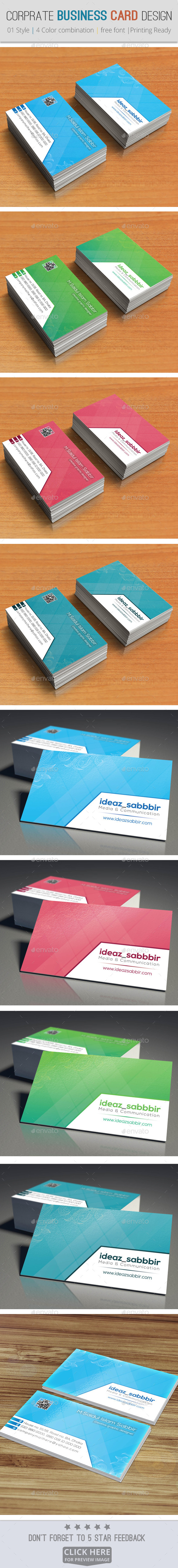 Corporate & Professional Business Card Design V01 - Corporate Brochures