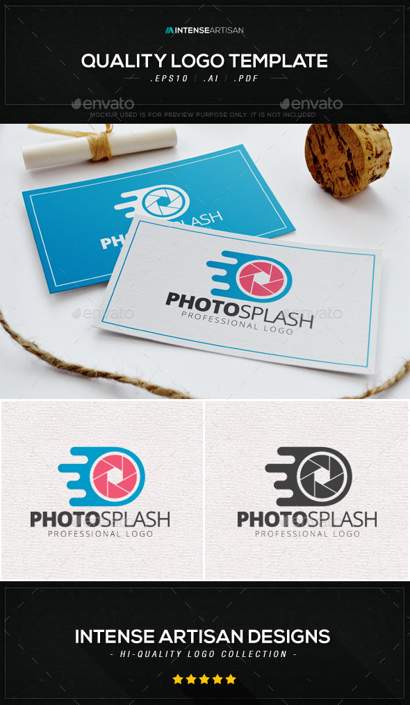 Photo Splash Logo Template - Objects Logo Templates