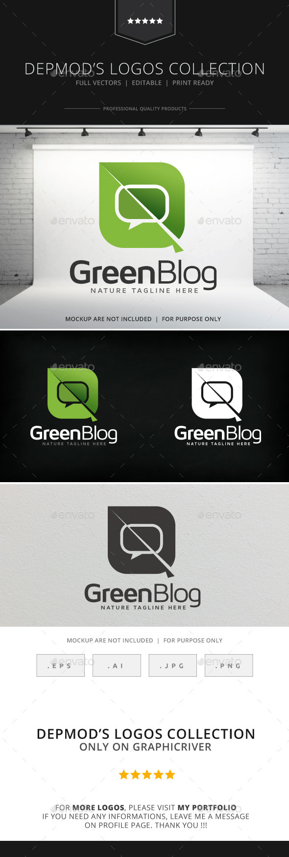 Green Blog Logo - Nature Logo Templates