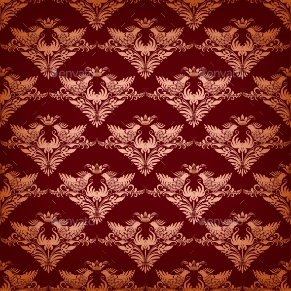 Seamless Background with Birds - Backgrounds Decorative