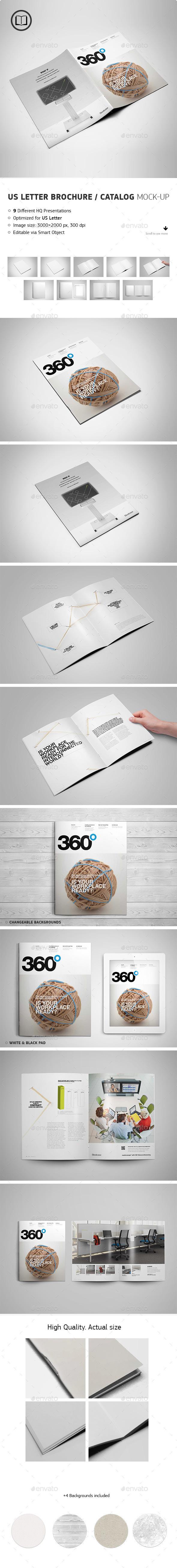 US Letter Brochure / Catalog Mock-Up - Brochures Print