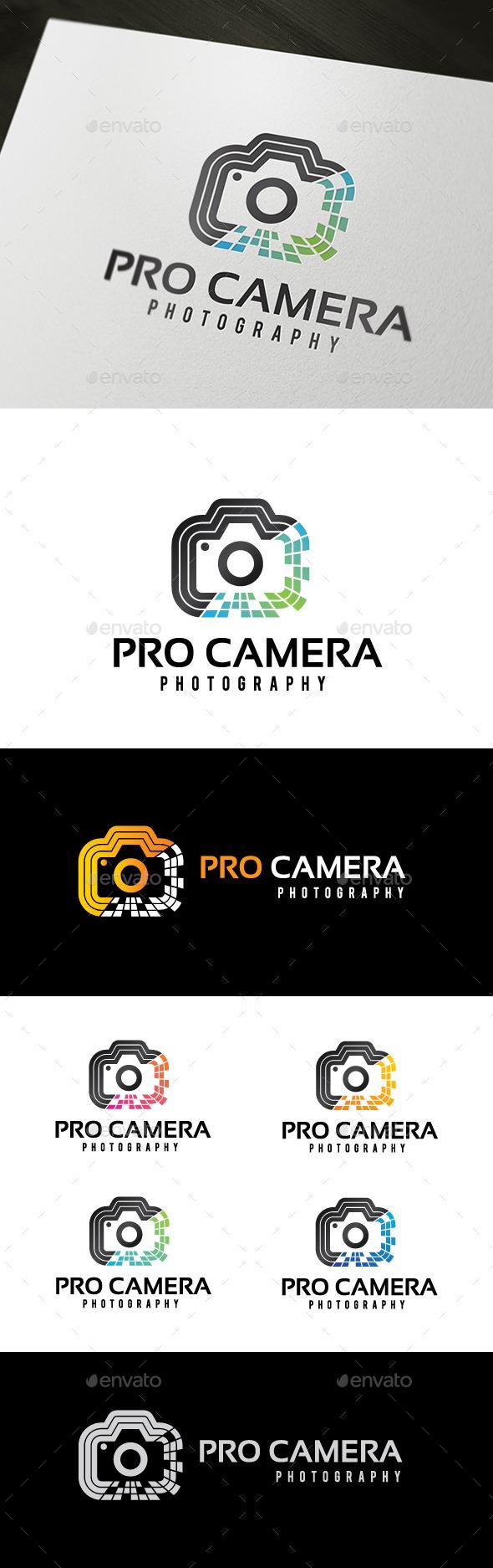 Pro Camera Logo - Objects Logo Templates
