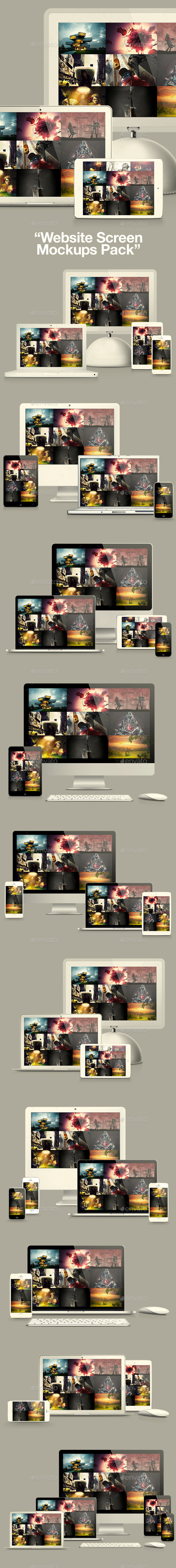 Website Screen Mockups Pack - Website Displays