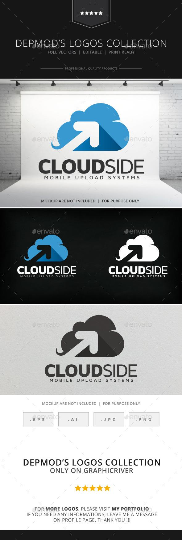 Cloud Side Logo - Symbols Logo Templates