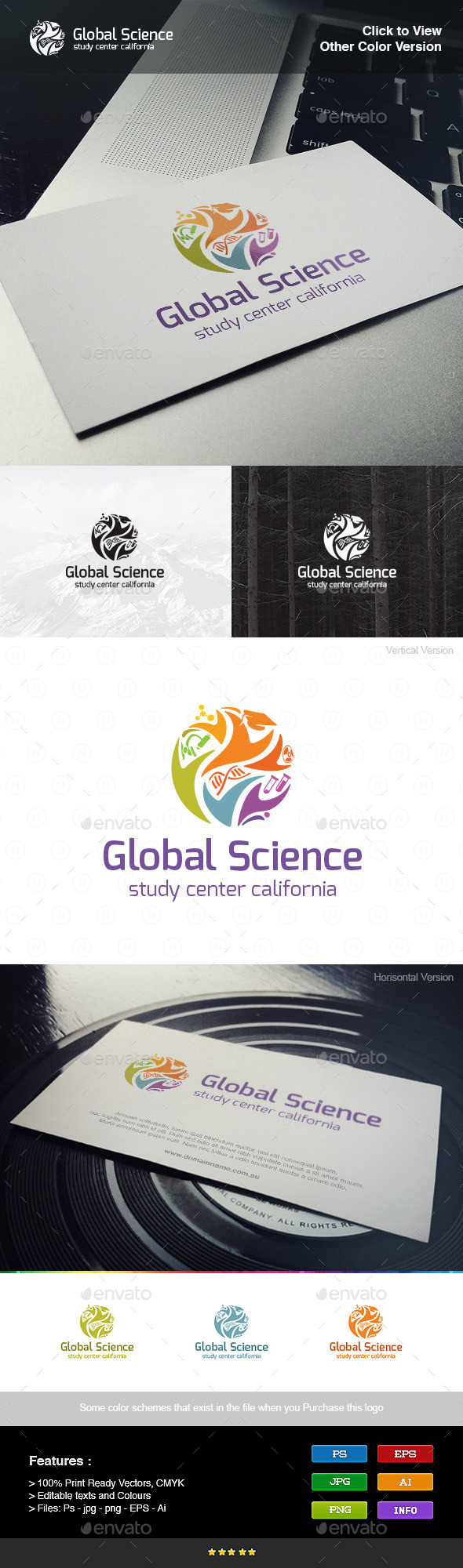 Global Science - Objects Logo Templates