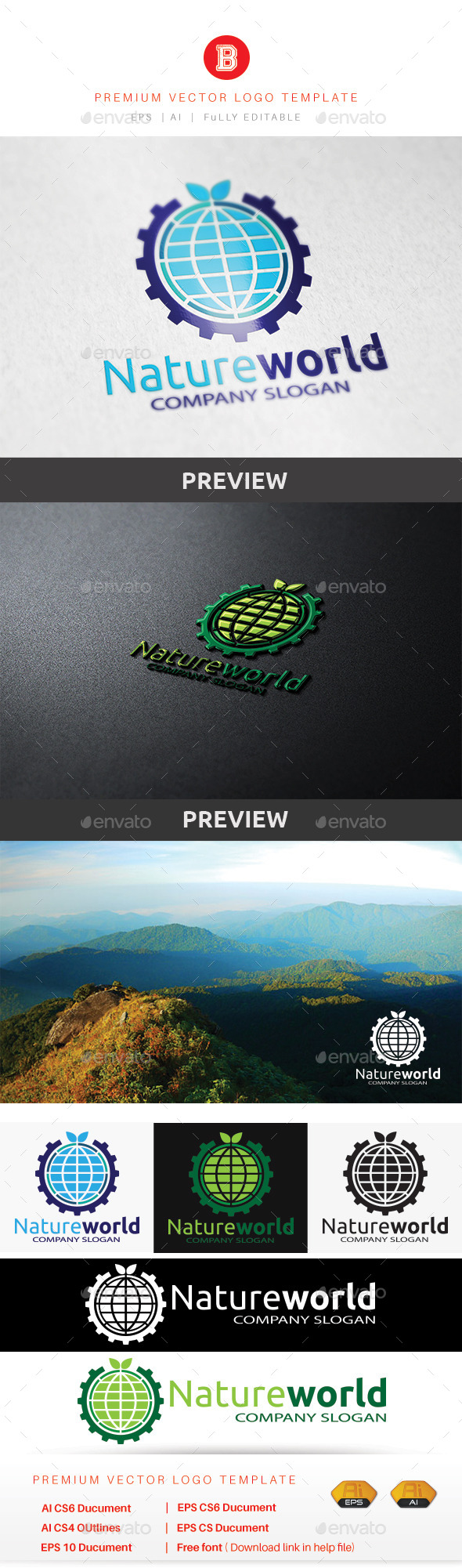 Nature World - Nature Logo Templates