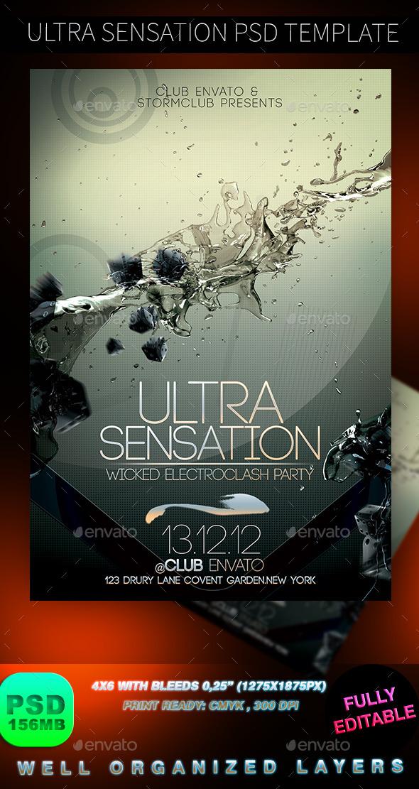 Ultra Sensation PSD Template - Events Flyers