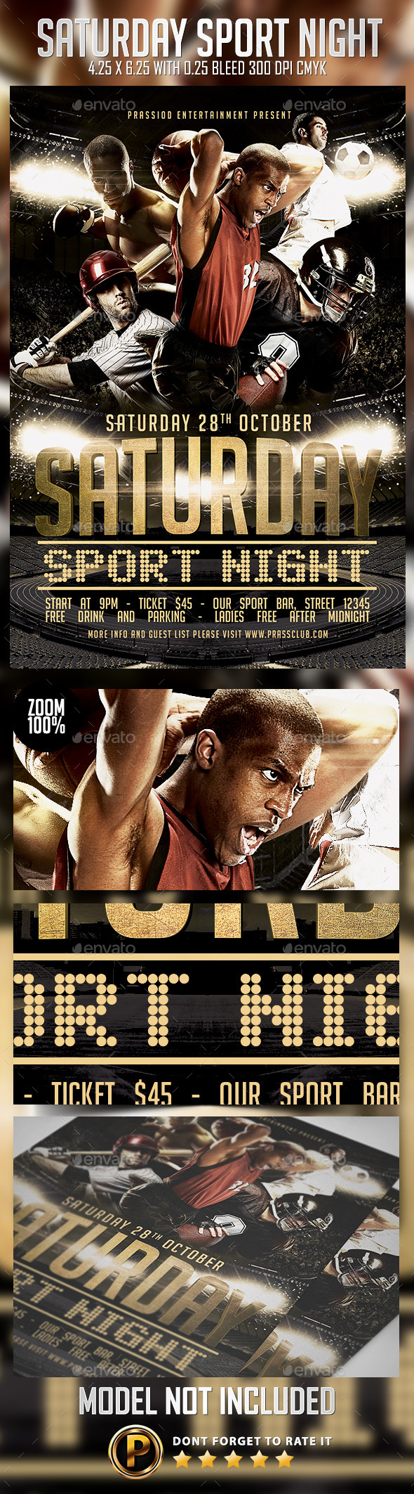 Saturday Sport Night Flyer Template - Sports Events