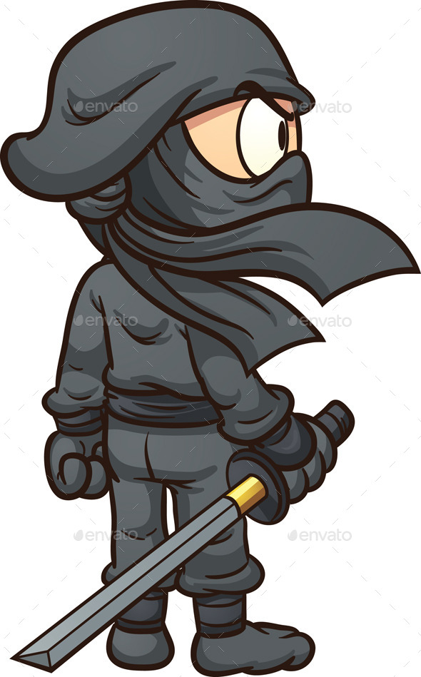 Cartoon Ninja - Characters Vectors