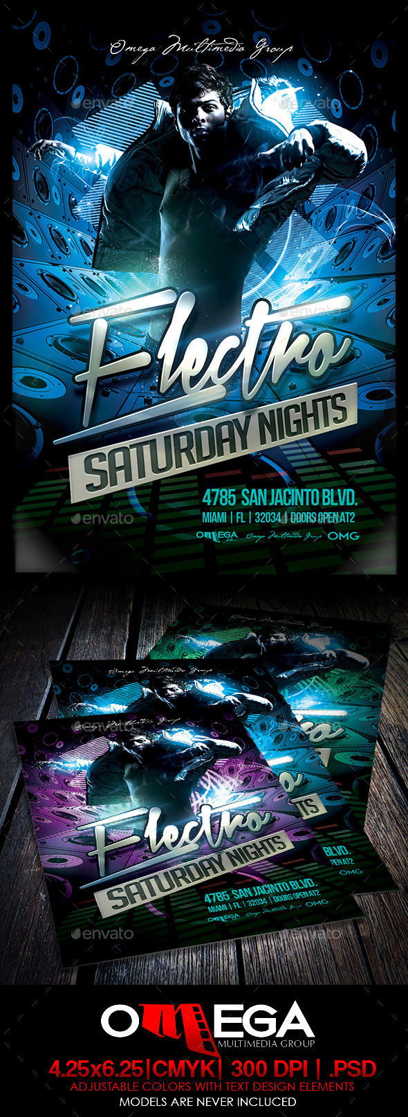 Electro Saturday Nights - Events Flyers