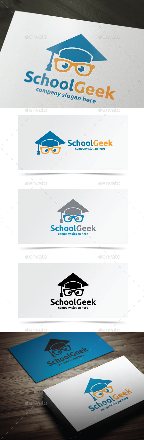 School Geek - Objects Logo Templates