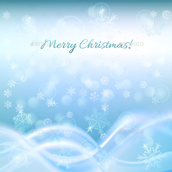 Blue Christmas Background - Christmas Seasons/Holidays