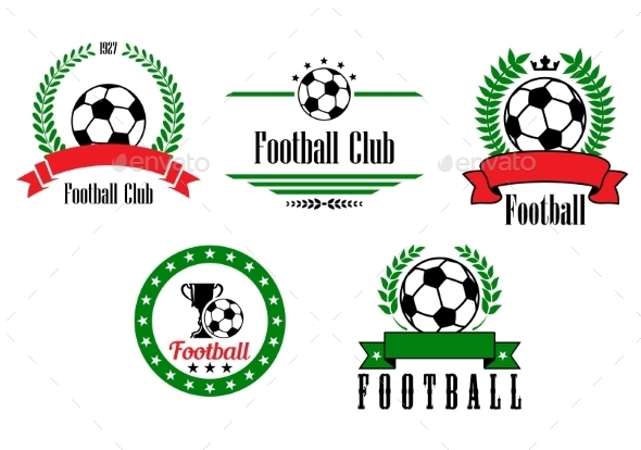 Football or Soccer Emblems and Badges Set - Sports/Activity Conceptual