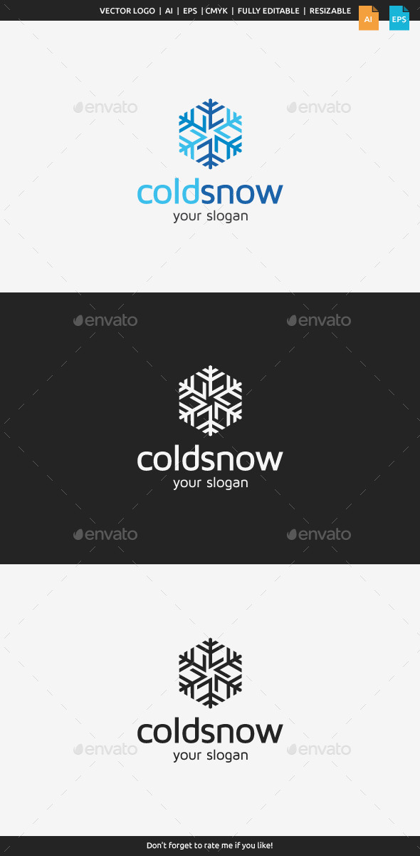 Cold Snow Logo - Symbols Logo Templates