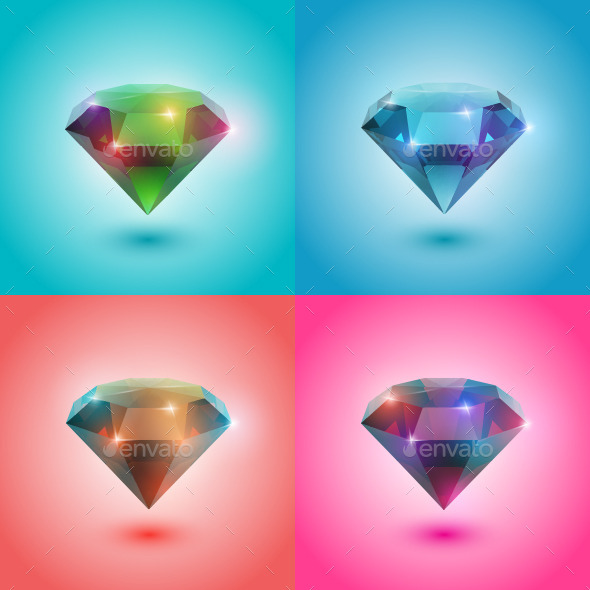 Set of Gems - Objects Vectors