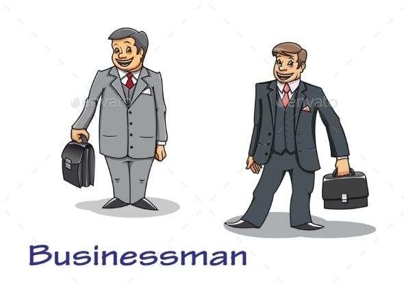 Cartoon Businessman Characters - Concepts Business