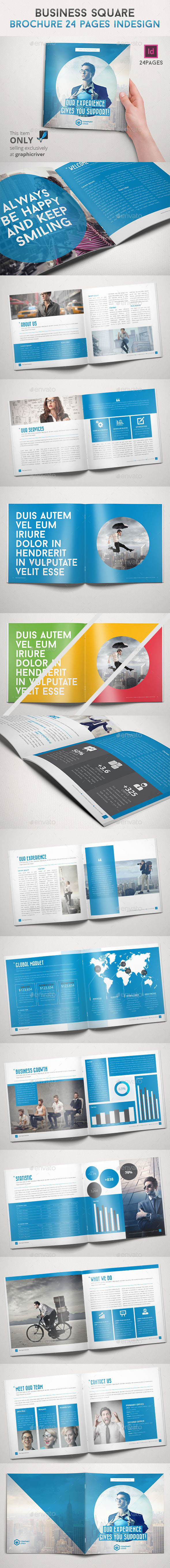 Business Square Brochure 24 Pages Indesign - Informational Brochures
