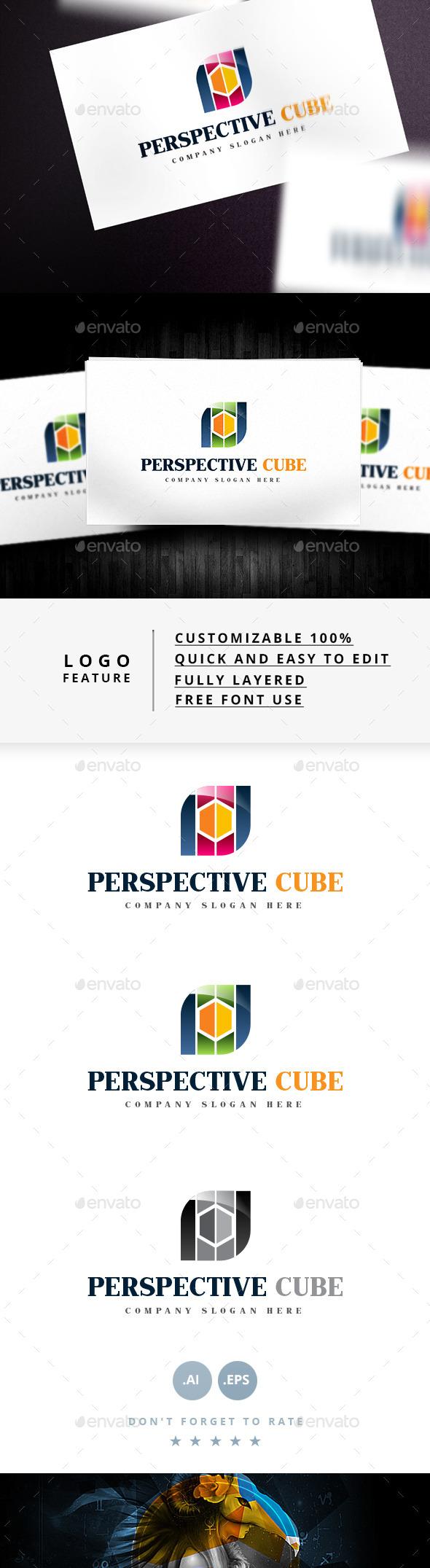 Perspective Cube Logo - Symbols Logo Templates