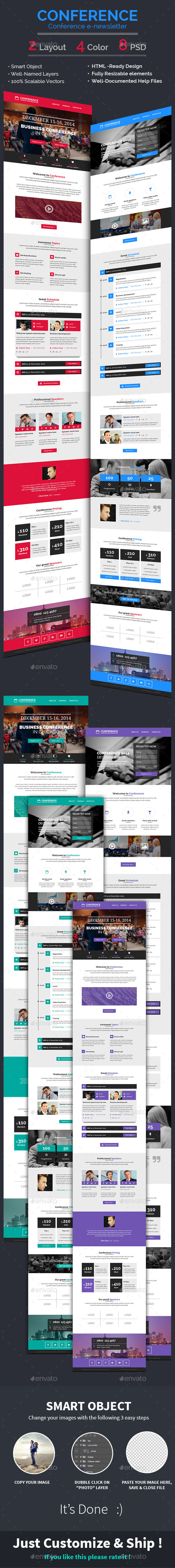 Conference / Event E-newsletter PSD Template - E-newsletters Web Elements