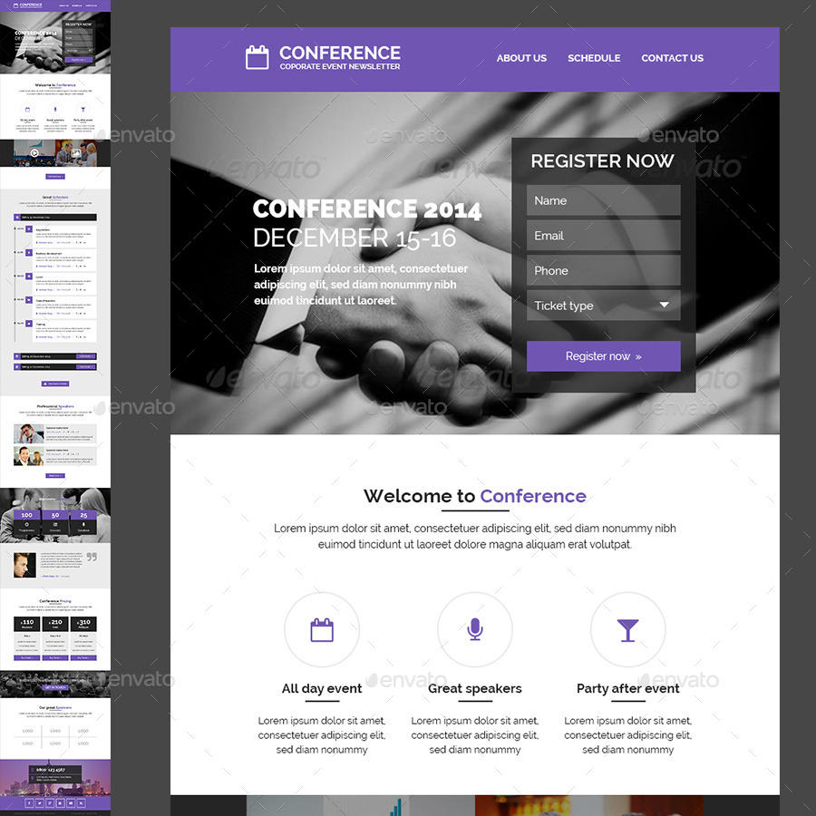 Conference / Event E-newsletter PSD Template by Kalanidhithemes ...
