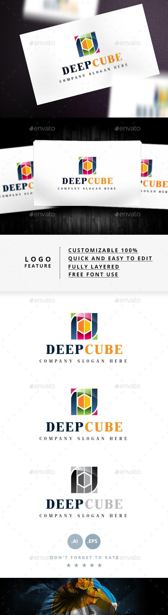 Deep Cube Logo - Symbols Logo Templates
