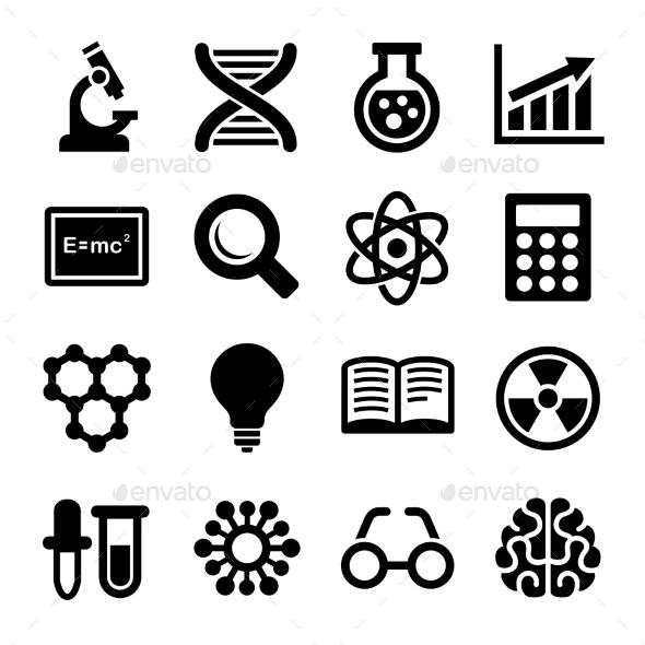 Science Icons Set Vector - Health/Medicine Conceptual