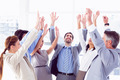 Business team raising their hands upwards - PhotoDune Item for Sale