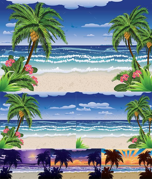 Beach and Tropical Sea - Nature Conceptual