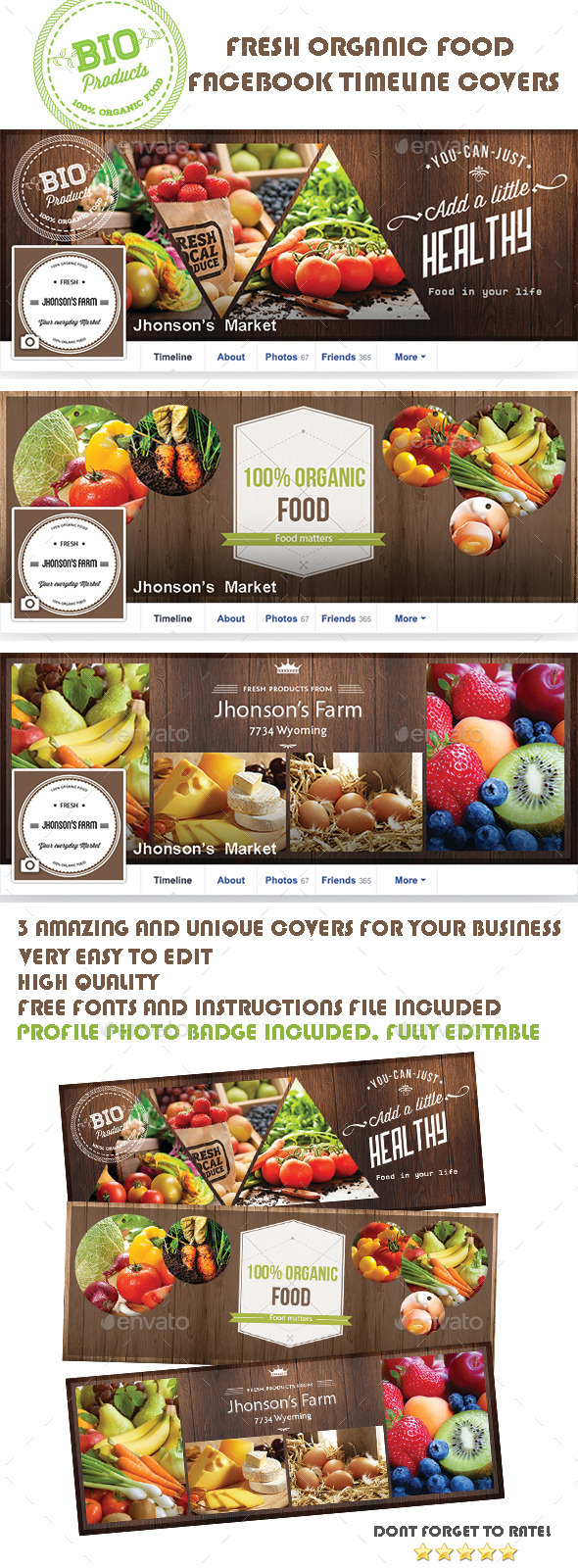 Organic Food Facebook Covers - Facebook Timeline Covers Social Media