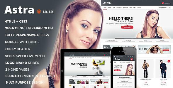Astra – Responsive Multipurpose Magento theme