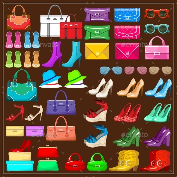 Set Shoes, Handbags and Accessories.  - Retail Commercial / Shopping
