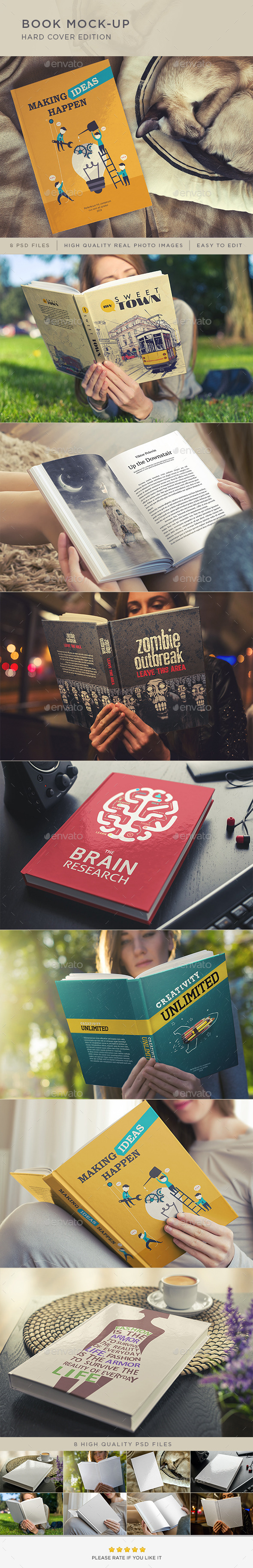 Book Mock-Up / Hard Cover Edition - Books Print