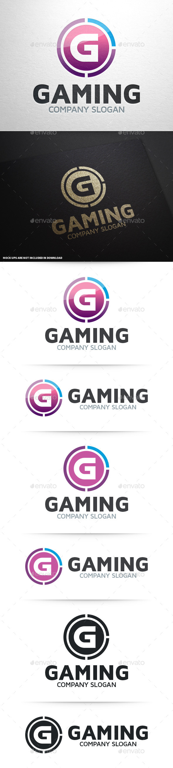 Gaming - Letter G Logo - Letters Logo Templates