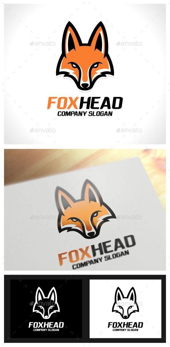 Fox Head Logo Template - Animals Logo Templates
