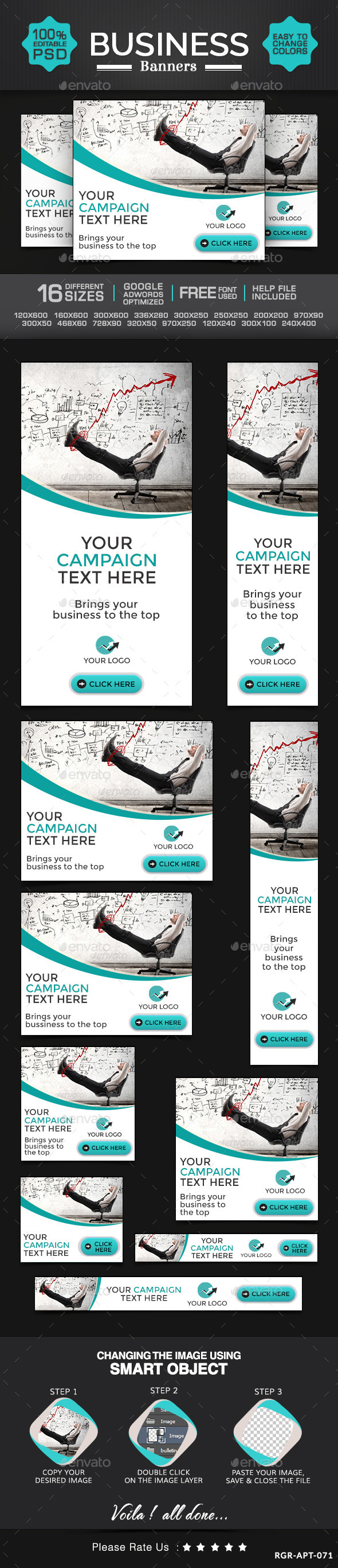 Business & Marketing Banners - Banners & Ads Web Elements