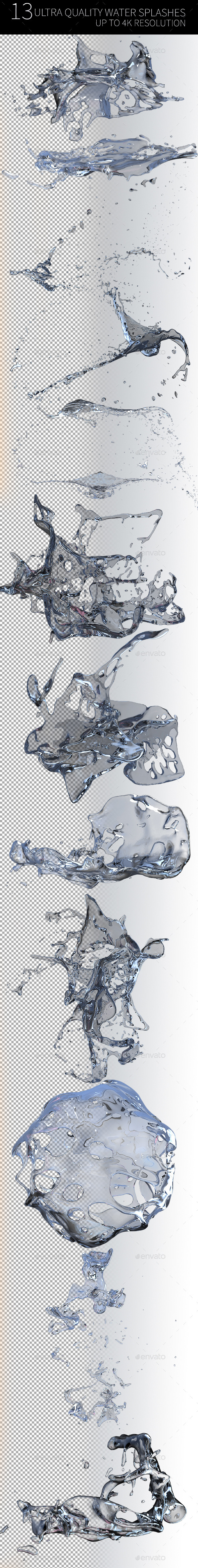 Ultra Quality Water Splash - Abstract 3D Renders