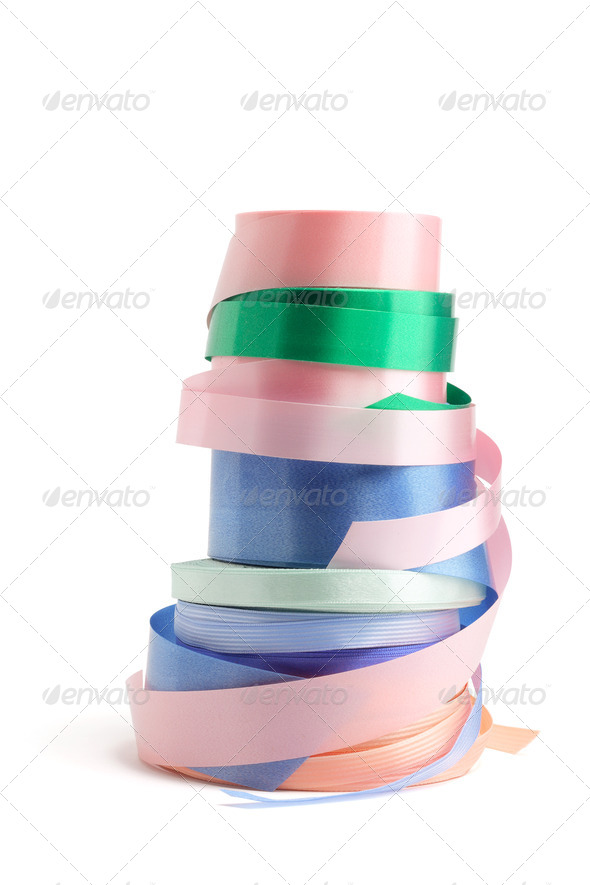 Rolls of Gift Ribbons - Stock Photo - Images