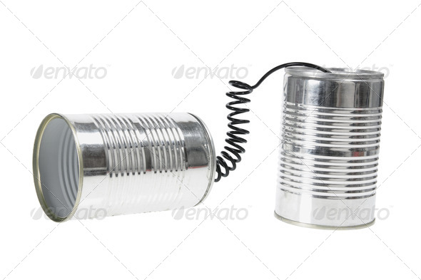 Tin Can Telephone - Stock Photo - Images